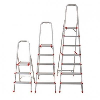 Escalera Aluminio Tijera Con Apoyo 4 Escalones 150kil 79/139cms