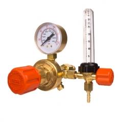 Válvula Reguladora De Presión Para Argón O Atal C/caudalímetro De Bronce