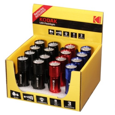 Linternas 9-led Roja, Negra,azul Kodak