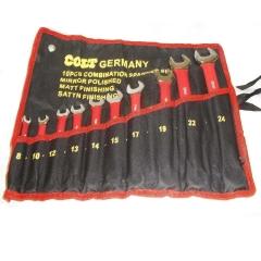Juego Set De 10 Llaves Metricas 6mm - 22mm Combinadas Colt Germany Cromo Vanadio