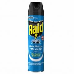 Insecticida En Aerosol 400cc Mata Moscas Y Mosquitos Azul Raid