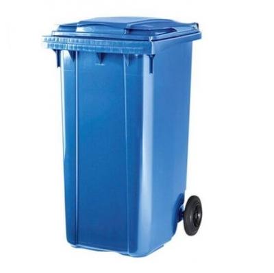 Contenedor 120lts 2 Ruedas Y Tapa Abisagrada Color Azul