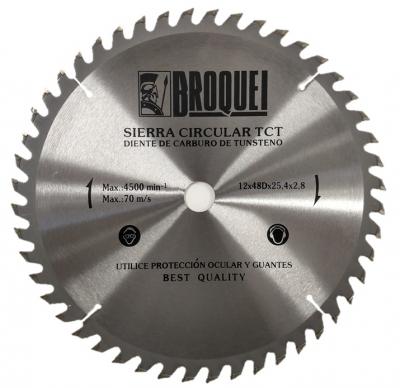 Sierra Circular Broquel 12 48t 25,4mm Max 4500rpm