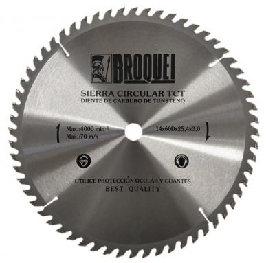 Sierra Circular Broquel 14 60t 25,4mm Max 4000rpm