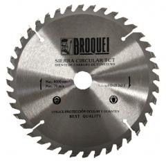 Sierra Circular Broquel 7-1/4pulg 40t 22mm Max 8000rpm