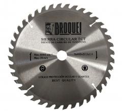 Sierra Circular Broquel 9pulg 40t 22mm Max 6000rpm