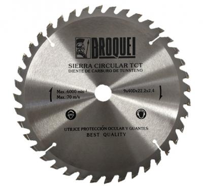 Sierra Circular Broquel 9 40t 22mm Max 6000rpm
