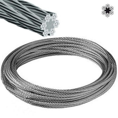 Cable Acero Galva 1x19 Diam 2mm X Mt