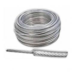 Cable 6 X 7 ø 2 A 4 Mm Plastificado Cristal