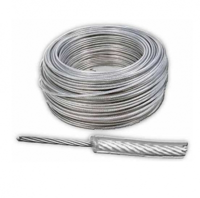 Cable 6 X 7 ø 3 A 5 Mm Plastificado Cristal