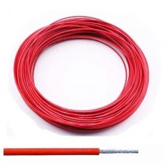 Cable 6 X 7 ø 3 A 5 Mm Plastificado Rojo