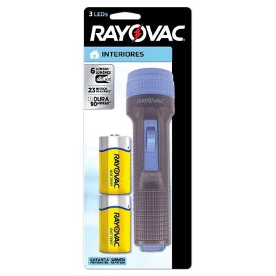 Linterna Rayovac 3 Led 2d Con Pilas Mod.sj 1005-b2d