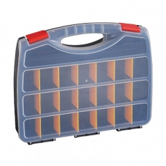 Organizador Plastico Horizontal 21 Divisiones Removible Con Manija Tipo Valija