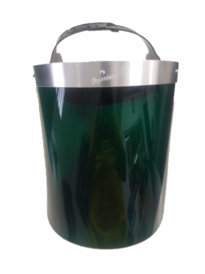 Protector Facial Alta Temperatura Verde Arnes De Aluminio Con Cabezal A Cremallera. 260x320mm X á2,50mm Serurind