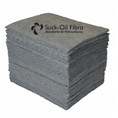 Paño Absorbente P/quimicos Gris 50x50cm 350grs Suckoil X Unid