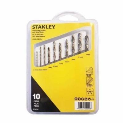 Juego 10 Mechas Set Stanley Para Metal Y Madera St5010