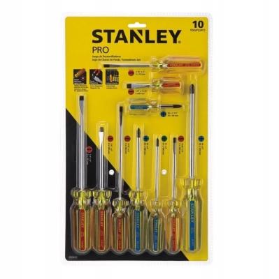 Juego De Destornilladores Pro 10 Piezas Stanley Stht69172