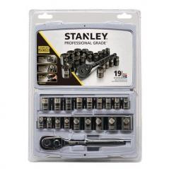 Juego De Tubos 19 Piezas Cromo Negro Stanley Stmt74089 3/8