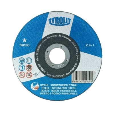 Disco Corte Tyrolit Basic 115x1,6mm