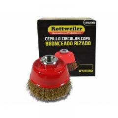 Cepillo Circular Copa Bronceado Rizado De 60 Mm