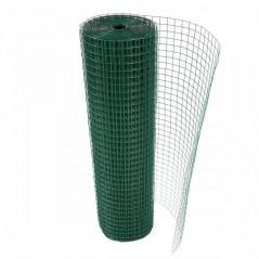 Rollo Malla Soldada Forrado En Pvc Verde De 13 X 13 (0.91 Mm) 1mt X 20mt