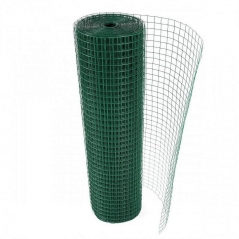 Rollo Malla Soldada Forrado En Pvc Verde De 25 X 25 (1.60 Mm) 1mt X 20mt