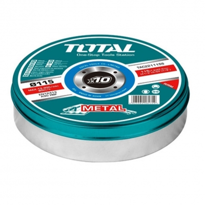Set De 10 Discos De Corte Total 115mm X 1,2mm Tac2211155