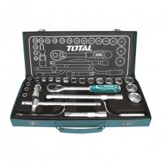 Caja De Tubos Enc 1/2 10-32mm Con Acces De 24 Pcs Caja Metal Total Industrial Tht141253