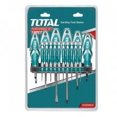 Juego De 18 Destornilladores, Industrial Total Tht250618