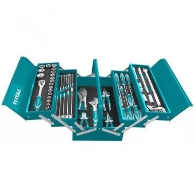 Caja De Herramientas  Manuales De 59 Pcs Industrial Total Thtcs12591