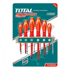 Juego De 6 Destornilladores Aislados Cr-v Total Thtis566