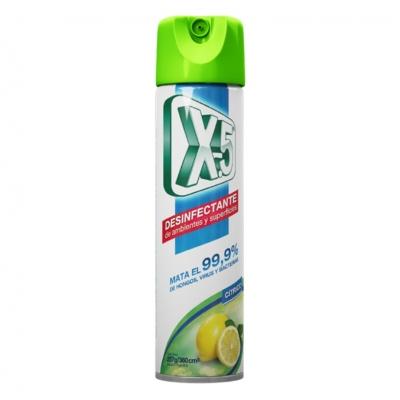 Desinfectante En Aerosol X-5 Cítrico 360 Cm³