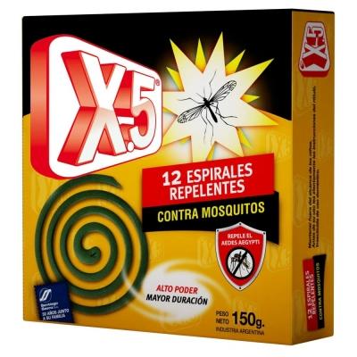 Espirales Repelentes Mosquitos X-5 12unid